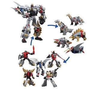 Image 5 - Bmb 変換 dinoking volcanicus ボックス男児スラグ汚泥うなり声急襲スラッシュ dinobots 5IN1 合金アクションフィギュアロボットのおもちゃ