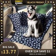 CAWAYI KENNEL caseta protectora de asiento de coche para perros, hamaca, alfombrillas y cojín para mascotas, resistente al agua, ideal para el transporte de caninos