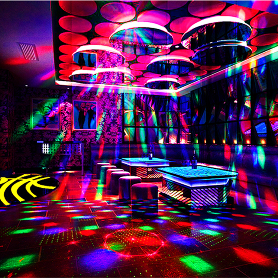 Boule magique de lumières de Disco de partie de son de rvb pour l'équipement de scène de Club de karaoké à la maison lumières sonores 16 modèles projecteur d'exposition de Laser