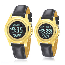 Muslim Couple Watch for All Prayers with Auto Qibla Direction Hijri Fajr Time Backlight for Man or Woman 1 Piece Only