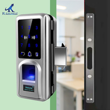Lock Remote-Control Long-Battery Glass Keyless Sliding High-Security with Office Entrance