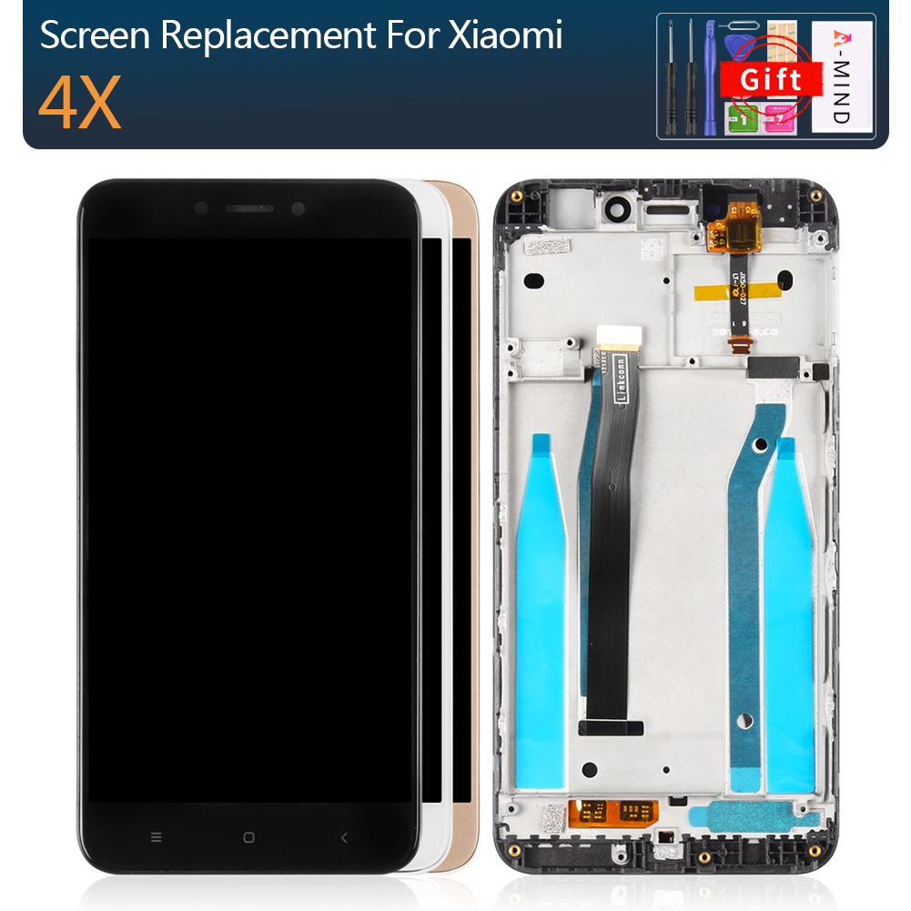 Original Display For Xiaomi Redmi 4X Display Touch Screen LCD For Xiaomi Redmi 4x LCD Display Assembly With Frame 4X LCD Display