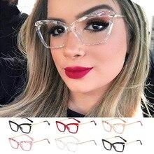 Кошачий глаз прозрачный очки про Акме мода квадратных очки рамки для женщин модный бренд сексуальные рама оптический компьютер Eyeglasse
