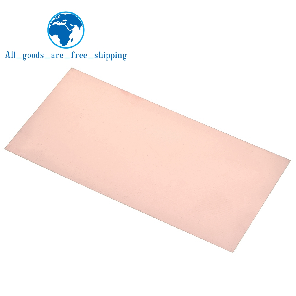 Односторонняя медная плакированная пластина 100x200x1,5 мм Печатная плата Fr4 Ламинат
