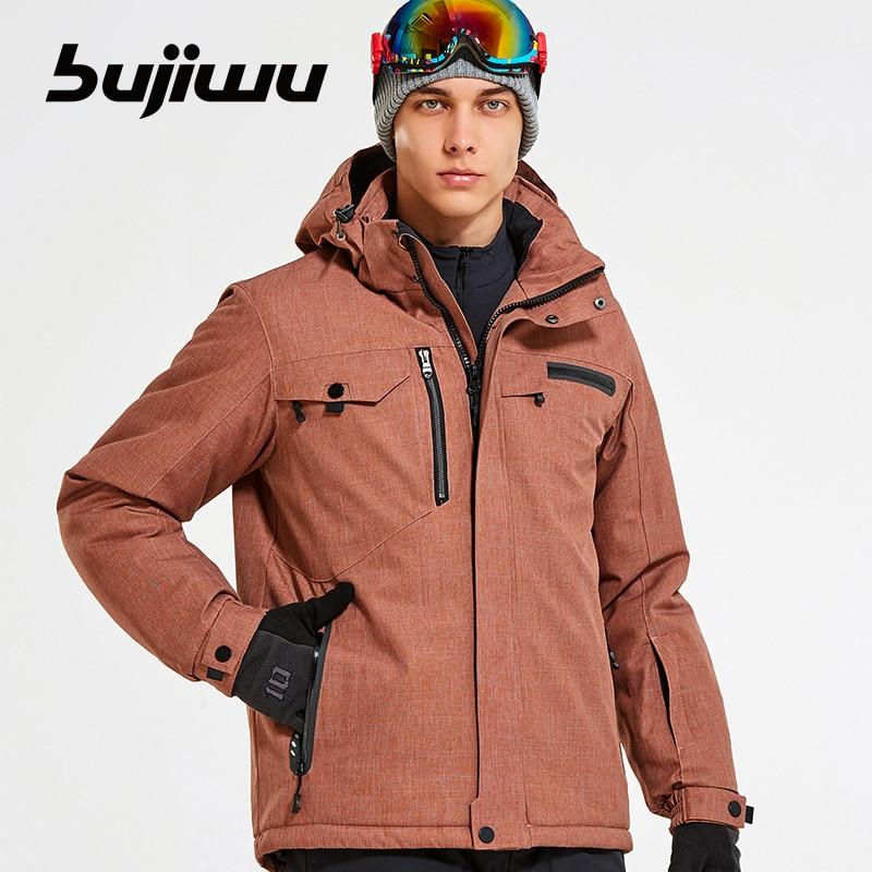 2019 Men Ski Jacket Snowboard Clothing Skiing Coat Windproof Waterproof Outdoor Sport Warm Winter Jacket Thicken Hooded New Coat