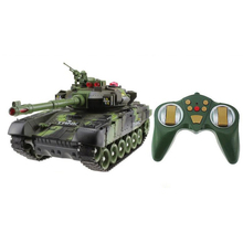 44CM Remote Control Tank Rechargeable Battle Launch 2.4Ghz Infrared Off-Road Tracked Car Child Boy Toy