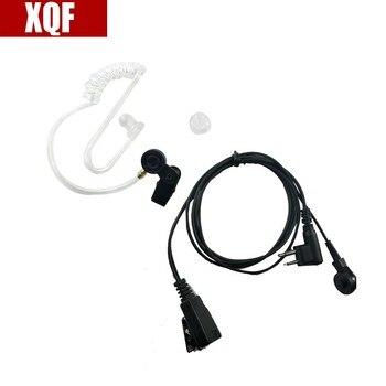 Oppxun 2 pin Tube Earpiece Headset Mic For Motorola GTI, GTX, LTS2000, VL50, VL130, PMR446, ECP100, PR400 Radio