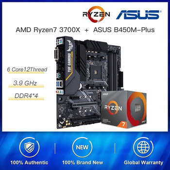 New combination AMD Ryzen 7 3700X R7 3700X 3.6 GHz 8 Core 16 Threads 65W Socket AM4 with ASUS TUF B450M-PRO GAMING Motherboard image