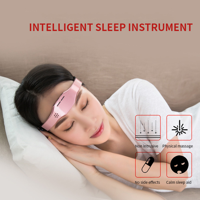 Jinkairui Promote Sleep Massager Migraine Relief Low Frequency Pulse Release Stress Anxiety Insomnia Gift Lightweight 1