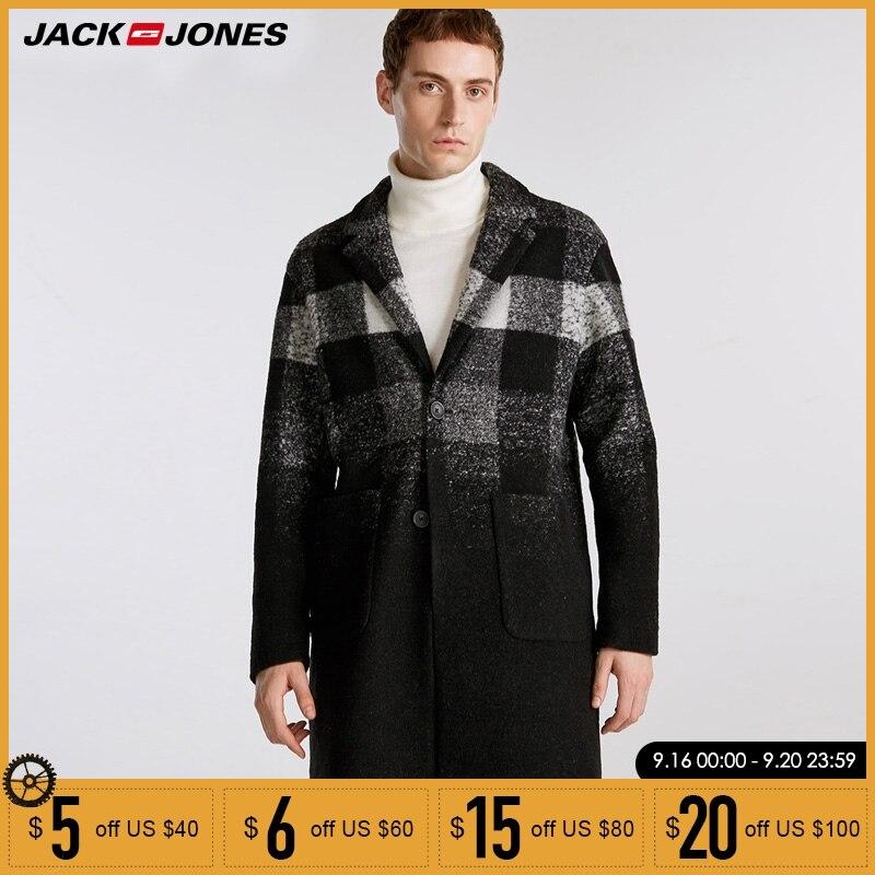 Jack Jones/осенне зимнее Новое мужское шерстяное длинное шерстяное пальто | 218327513