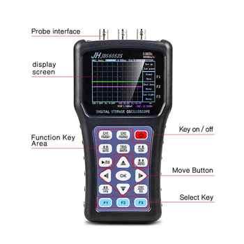 2020 Portable Oscilloscope Digital Signal Function Generator JDS6052S 2CH 50M 200MSa/S 5 Languages Signal Generator