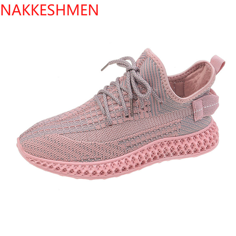2019 Summer New Breathable Flying Woven Casual Shoes Sneakers Women's Shoes
