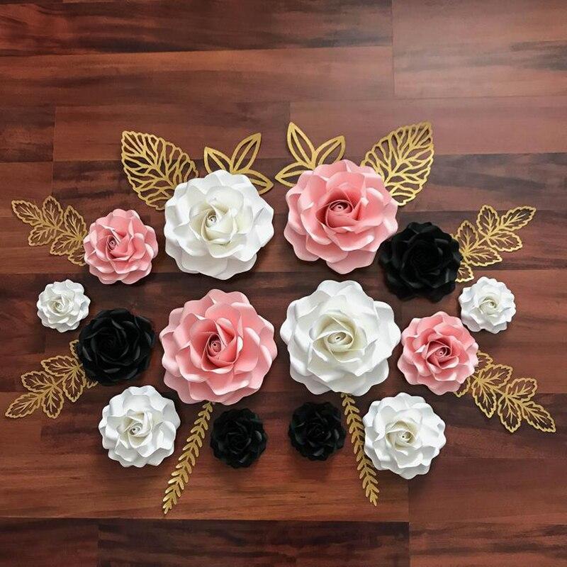 6pcs flor rosa decoração scrapbooking álbum cartão de papel artesanato gravação morrer cortes