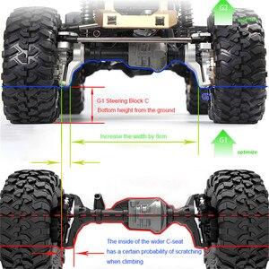 Для 1:10 TRX4 Defender Blazer G500 RC алюминий GRC G2 полный передний и задний мост Набор обновленный литье Полный выпуск автозапчасти