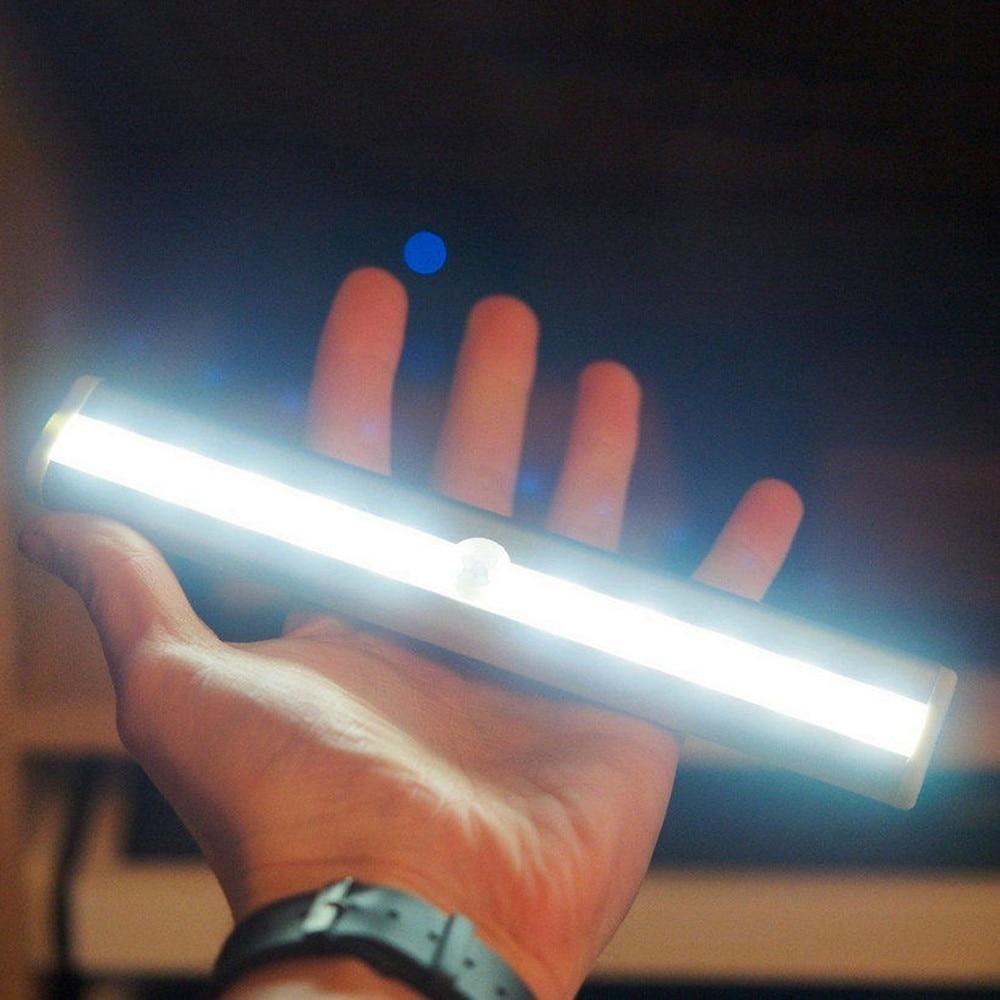 Ночник, портативный, с инфракрасным датчиком движения, 10 светодиодов