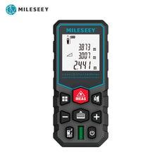 Mileseey Medidor de distancia láser X5, telémetro trena, cinta láser, telémetro digital, dispositivo de medida de construcción, herramienta de prueba de regla
