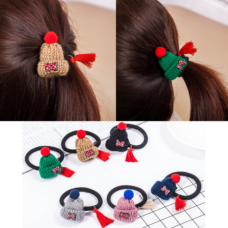 Quality Accessories Hairpin Fashion Hat Shaped Knitted Christmas Hair Clip