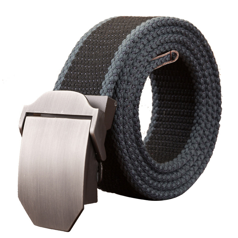Hot Men   Belt   Quality Canvas Automatic Buckle Men's Tactical   Belt   Outdoor Youth Students Jeans   Belt   Training   Belt   Combat   Belts