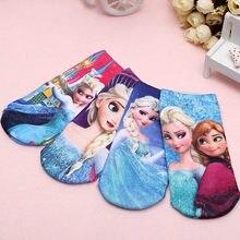 Lote de 4 pares de calcetines de dibujos animados para bebé, Elsa, recién nacido, accesorios de ropa para bebé