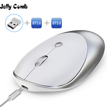 Jelly Kam 3.0/5.0 Bluetooth Muis Draadloze Oplaadbare Muis Stille Mause Bluetooth 2.4 Ghz Usb muis Voor Laptop Notebook pc