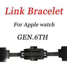 Link Bracelet Band For Apple Watch 38mm 42mm 40mm 44mm 316L Stainless Steel Detachable Strap For iwatch 4 3 2 1 Adjustable Band цена 2017