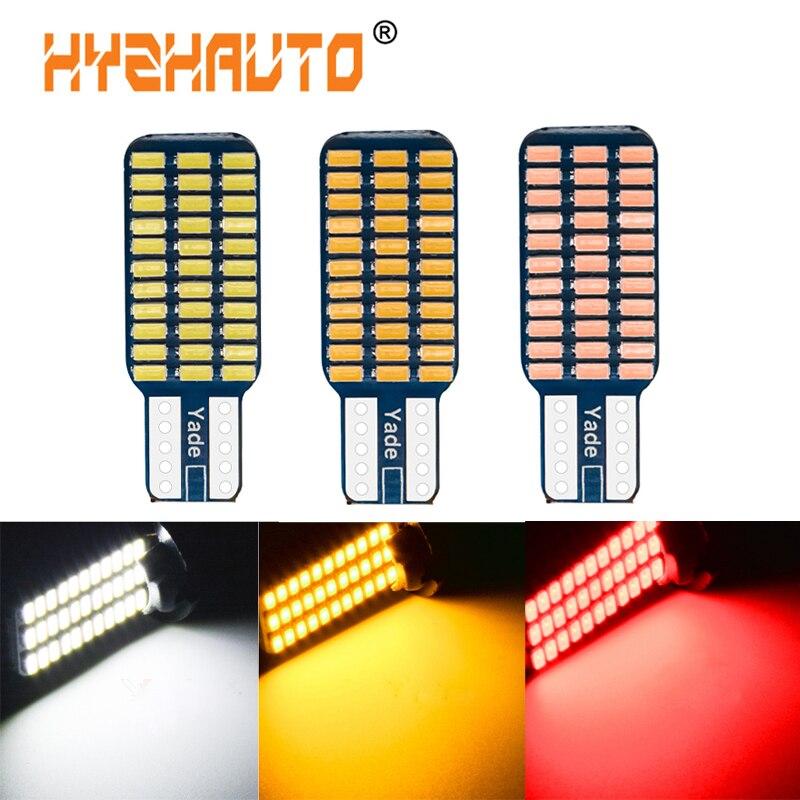 HYZHAUTO светодиодный T10 192 194 168 W5W лампы Canbus без ошибок 33 SMD 3014 Автомобильный интерьер Doom лампа Освещение номерного знака Белый 12 в 10 шт.