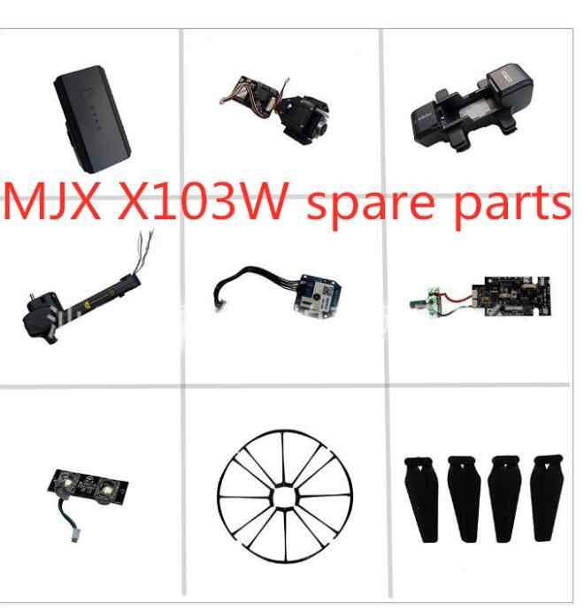 MJX X103W JJRC H73 GPS RC drone Onderdelen body shell GPS Camera Zoeklicht Afstandsbediening frame blade motor Arm etc