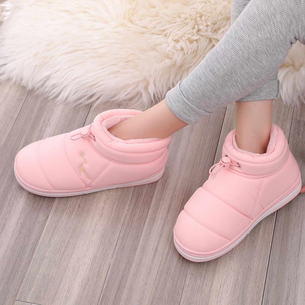 2019 moda kış ayakkabı kadın pembe yarım çizmeler kadın platformu kar botları İpli düz sıcak Bootie sıcak satış büyük boy