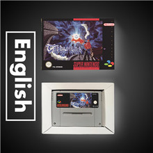 Terranigma Batería de juego RPG, versión europea, ahorro con caja de venta al por menor