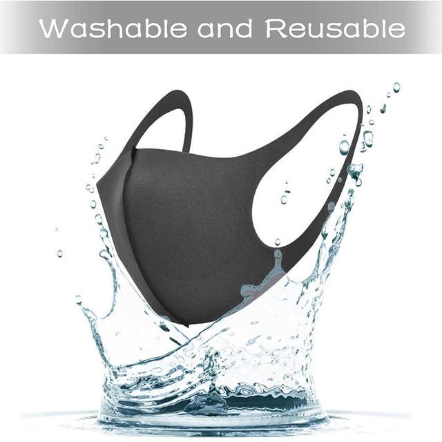 5pcs Washable Reusable Anti Haze Mouth Cotton Anti-dust Mask Flu Face Mask PM2.5  Mask korean Unisex Mask 4