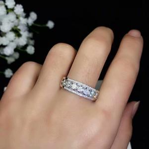 Image 5 - مويسانيتي جميلة موضوع حلقة ، 925 شكل مُعين من الفضة الاسترليني عصابة. مجوهرات الأزياء ،