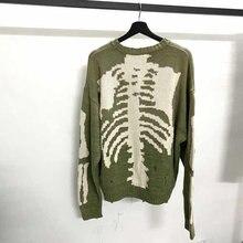 Kapital – pull en tricot avec impression de squelette pour homme et femme, de bonne qualité, Vintage, avec trous, 1:1