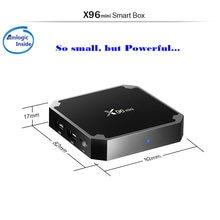 X96mini smart tv box android 7.1 2gb/16gb tvbox x 96 mini amlogic s905w h.265 4k 2.4ghz wifi media player conjunto caixa superior
