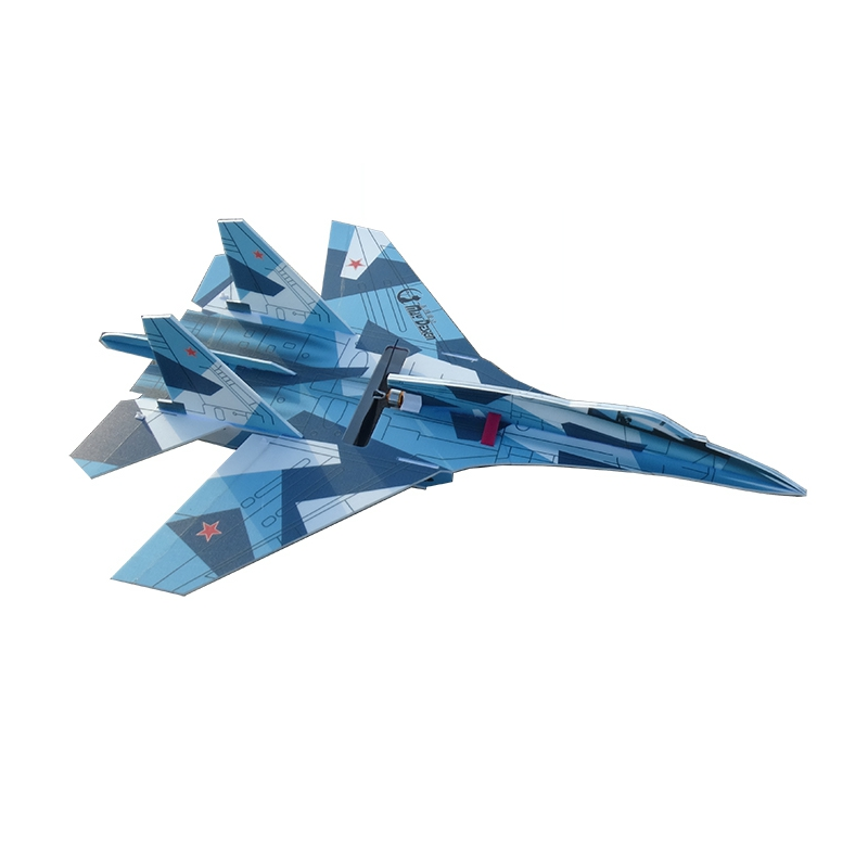 Новейший SU27 760 мм размах крыльев PP RC самолет масштабированный самолет фиксированный комплект крыла RC маленький подарок детские игрушки