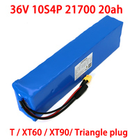 LiitoKala 36V 20Ah battery 21700 10S4P battery pack 500W high power battery 42V 20000mAh Ebike electric bicycle BMS Protection