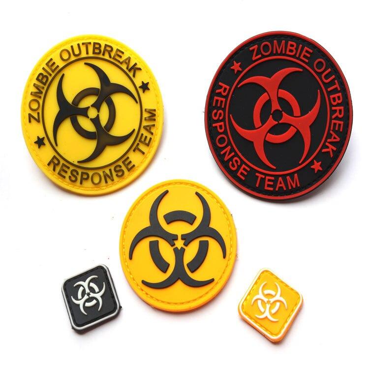 Resident Evil Series Bag With Supplies PVC Disposable Epoxy Velcro Label Shoulder Emblem