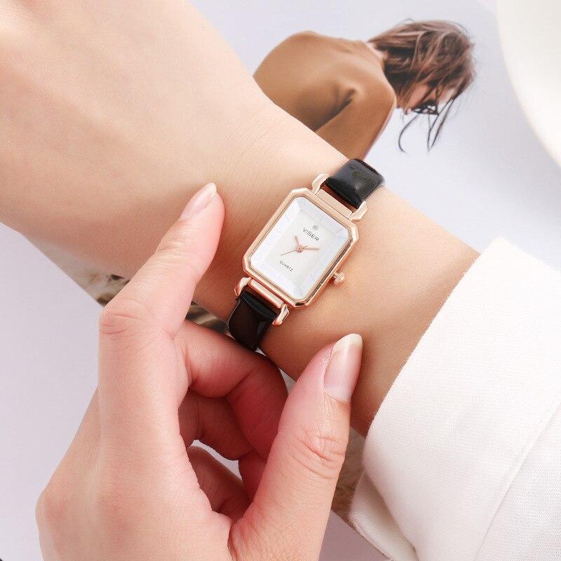 Mode de luxe femmes cadran carré Montre décontracté Bracelet Quartz montres femmes robe Montre de mode Sport horloge Montre Femme