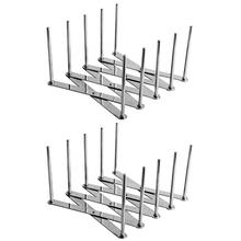 2 Pack wysuwana pokrywka garnka uniwersalny stojak na parze patelnie podkładki pod szklanki elastyczny talerz organizator naczynia kuchenne do pieczenia Cuttin tanie tanio CN (pochodzenie) Metal 13*5 7*7 2cm