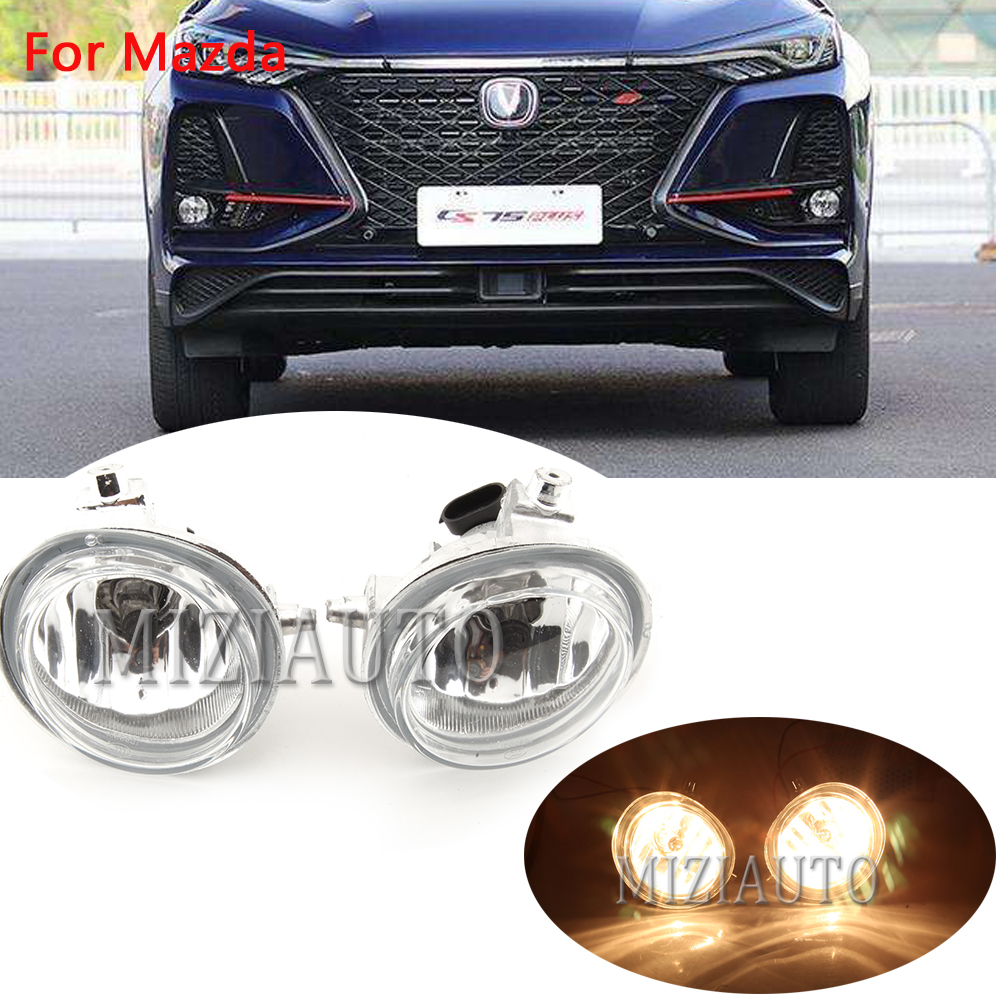 for <font><b>Mazda</b></font> 2 3 <font><b>6</b></font> CX5 CX7 CX-5 CX-7 Front Bumper Fog Lamp Fog <font><b>Light</b></font> Foglight w/H11 Halogen Bulbs image
