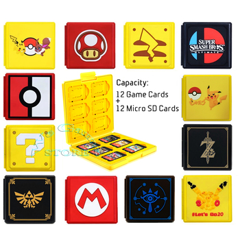 Nintendoswitch 12 Game Cards Case Nitendo Storage Box Nintend Switch  Carrying Bag for Nintendo Switch Games Accessories 1