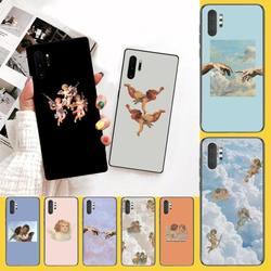 Мягкий силиконовый черный чехол для телефона PENGHUWAN с изображением эстетических ангелов возрождения для Samsung Note 3 4 5 7 8 9 10 pro M10 20 30