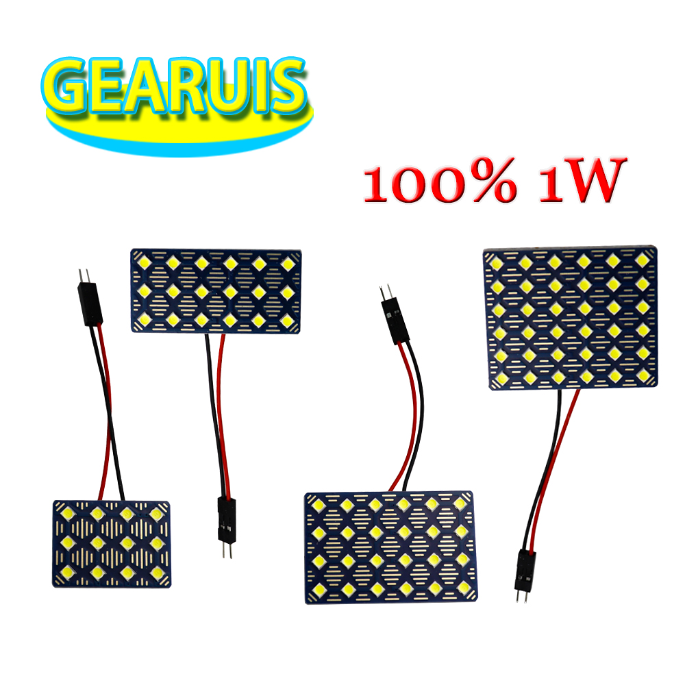 4pcs AC 12V Dome Panel 12 <font><b>18</b></font> 24 36 <font><b>SMD</b></font> 3030 LED 1W chips 2.76W 2.16W 1.8W Interior Map Roof Reading Woking light lamp 2 Adapter image