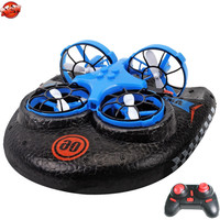 Multifunction Water Land Air 3 To 1 Electric Remote Control RC Hovercraft 2.4G High Speed Land/Water Driving Sky Fly RC Boat Toy rc boat toy remote control speedboat boat toy -