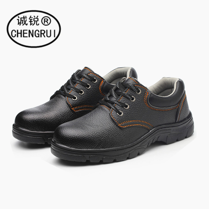 Safety Shoes Men's Smashing Anti Puncture Rubber Sole Breathable Work Shoes Wear-Resistant Oil Resistant Acid And Alkali Safe Pr