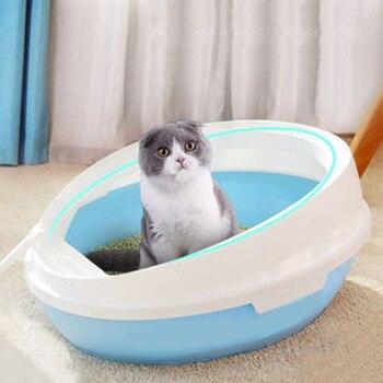 Caja de arena para gatos, Inodoro para gatos, lavabo semicerrado, Kit de entrenamiento para Inodoro inooro Arenero Gato, Inodoro para mascotas, productos para mascotas, Wc B70