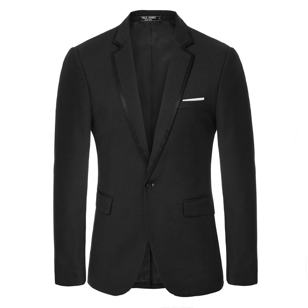 Men's Contrast Strips Decorated Blazer Coat One-Button Notch Lapel Back Split Formal Evening Party Office Work Blazers Men