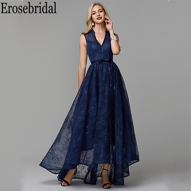 Erosebridal Lace   Evening     Dress   Party Long Navy Long   Evening   Gowns for Women Lace Up Back robe soiree