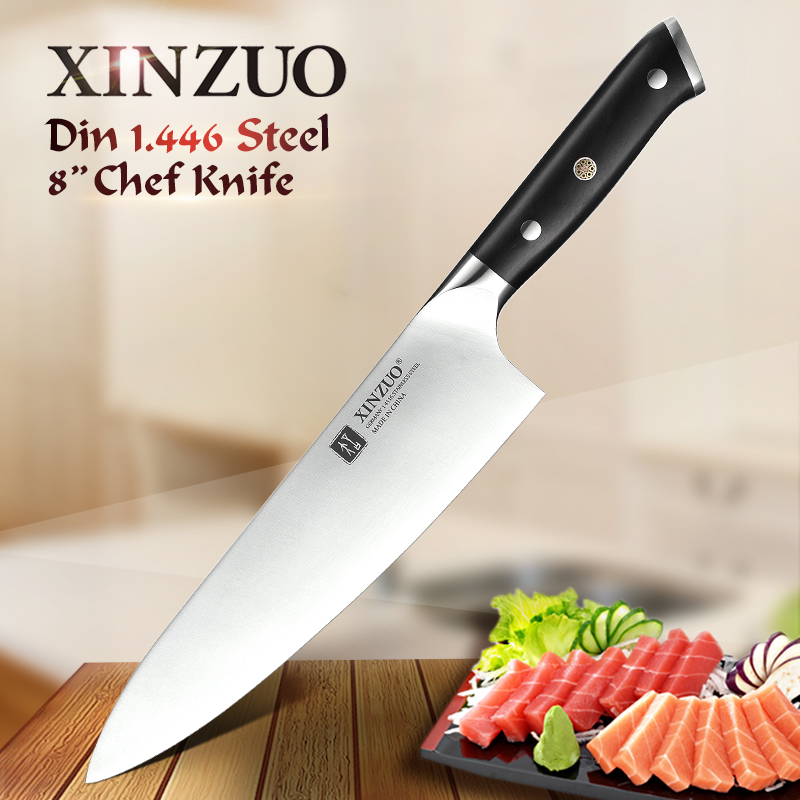 XINZUO 8.5'' in Chef Knife High Carbon German 1.4116 Steel Kitchen Knives Stainless Steel Professional Meat Knife Ebony Handle|Kitchen Knives| |  - title=