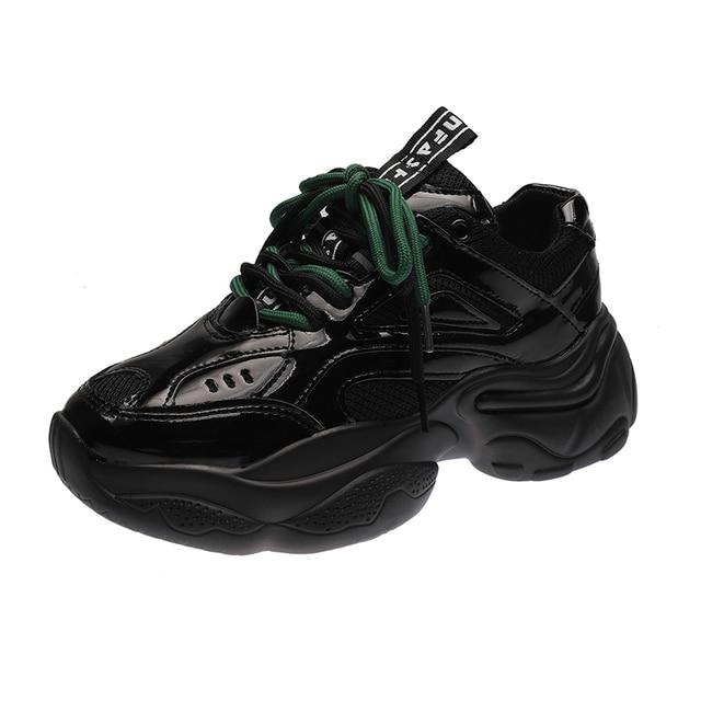 ADBOOV New Patent Leather Sneakers