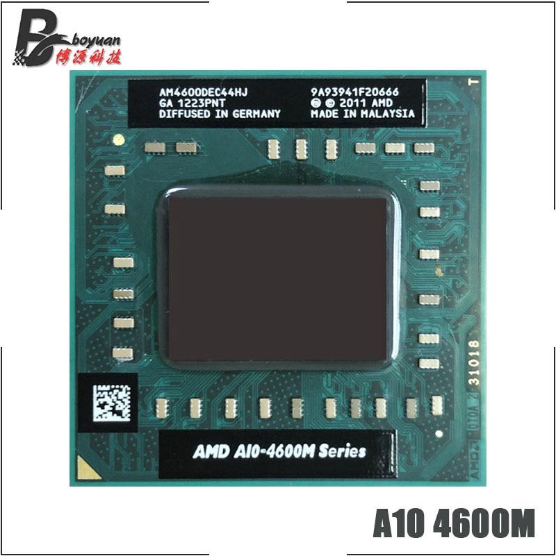 AMD A10-Series A10 4600M 2,3 ггц четырехъядерный четырехпоточный процессор AM4600DEC44HJ разъем FS1